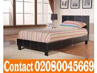 Brand New Single Double & King Size Leather Bed With Mattress