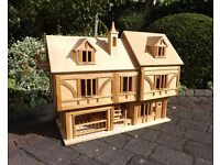 Brian Frost unusual collectors dolls house was a commission piece Tudor style solid and heavy 1990s