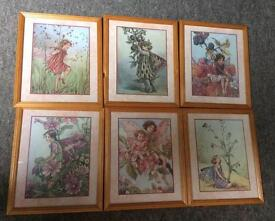 Set of six fairy pictures