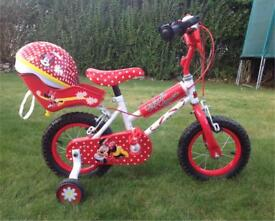 "Minnie Mouse 12"" child's bike"