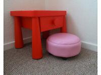 kids chair + ikea mamut table
