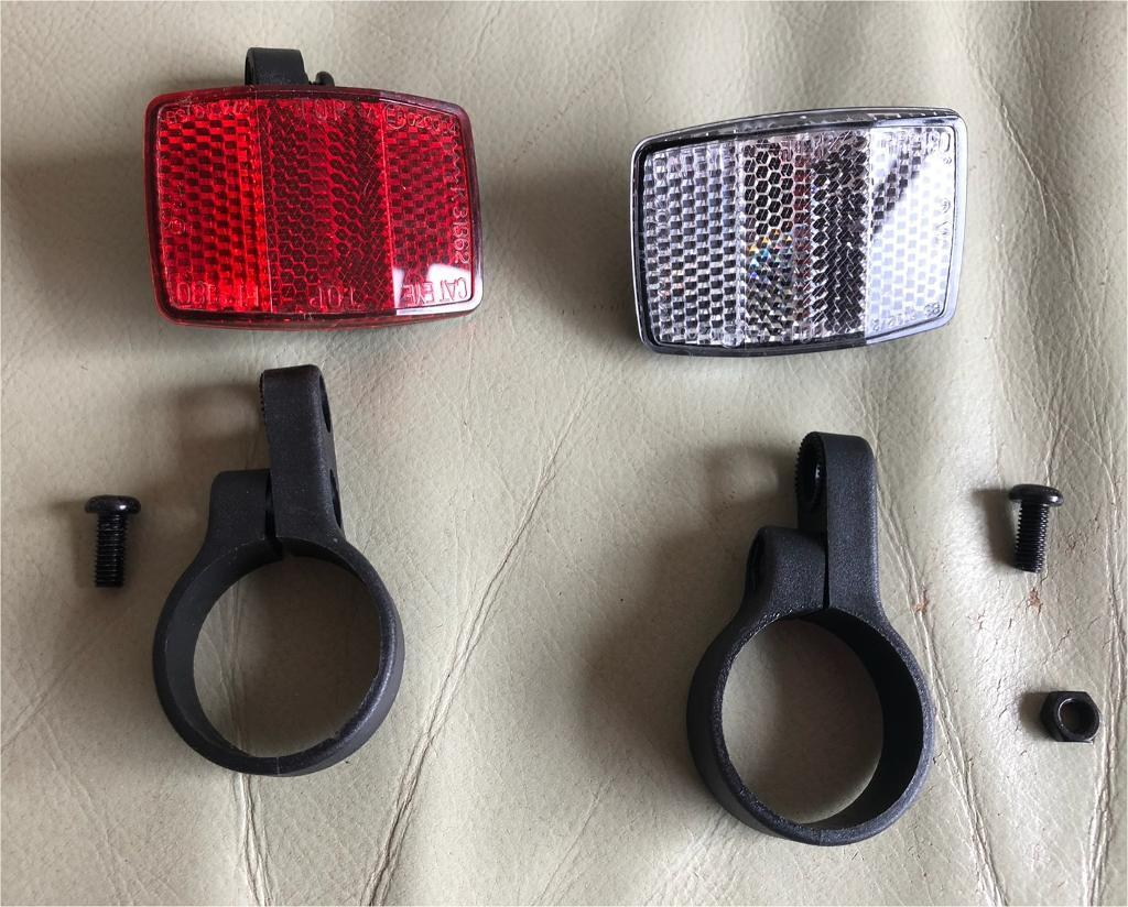 Bike Bicycle Reflector Light Reflective Strips Utility Cycle Front & Rear