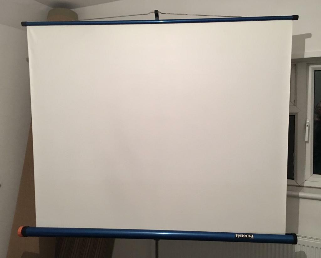 Large Portable Projector Screens : Large vintage reflecta lux projector screen portable