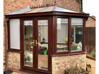 UPVC Conservatory, Good condition, brown exterior - white Interior