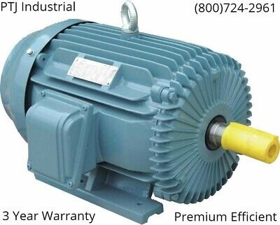 15 Hp 254t Electric Motor 3 Phase 3600 Cast Iron 3 Year Warranty
