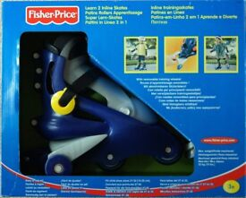 Fisher Price Learn 2 Inline Skates with Removable Training Wheels