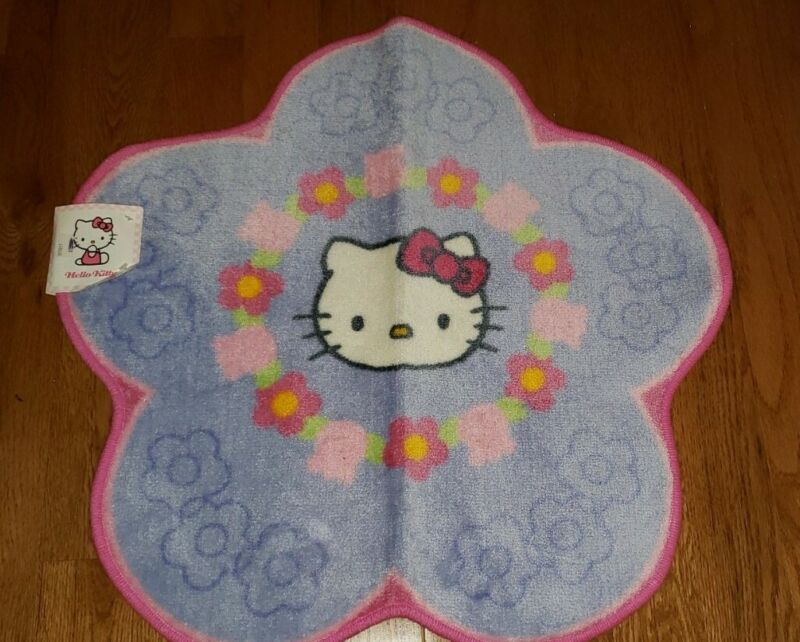 Sanrio Hello Kitty Bathroom Bath Rug Rare - Flower w Hello Kitty