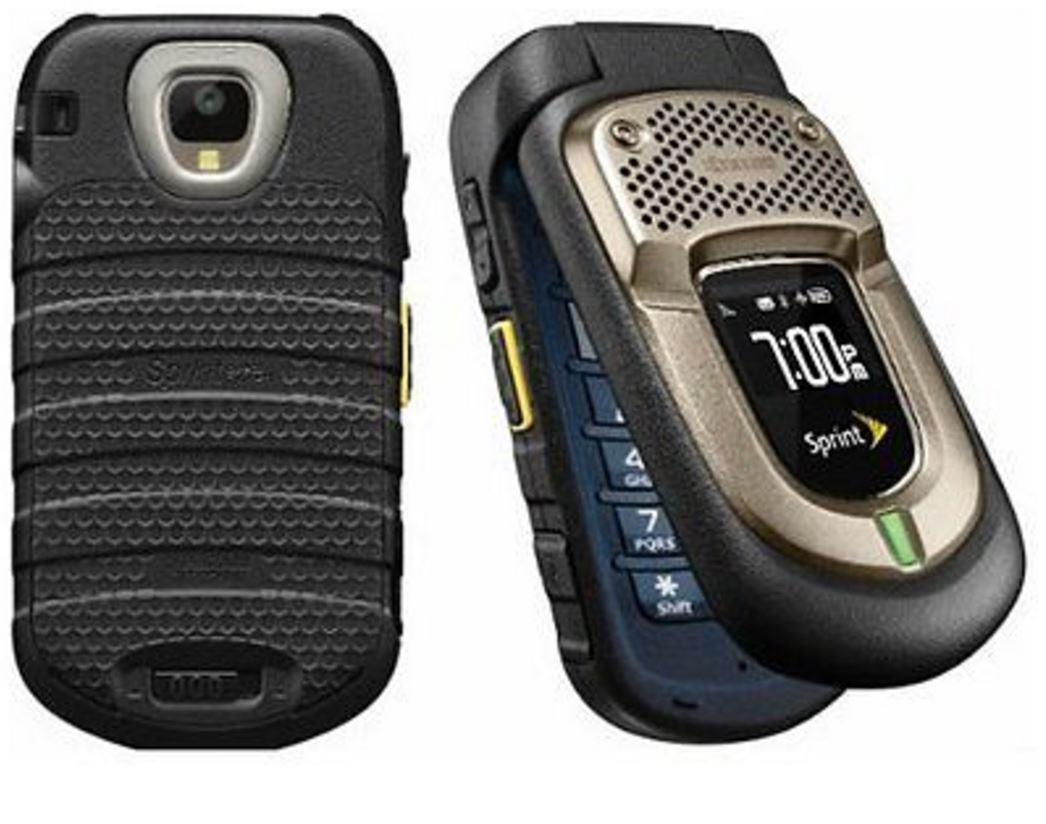 Kyocera duraxt e4277 black sprint cdma flip cellular phone for Rugged cell phones