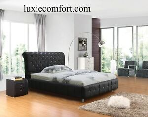 BRAND NEW VALENCIA LEATHER BED IN BLACK OR WHITE Hoppers Crossing Wyndham Area Preview