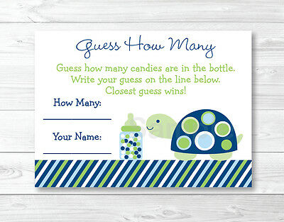 Mod Green Turtle Printable Baby Shower