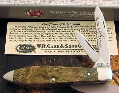 Case Teardrop Knife 2015 SFO Exotic Legal Mammoth Tony Bose Design A KNOCKOUT NR