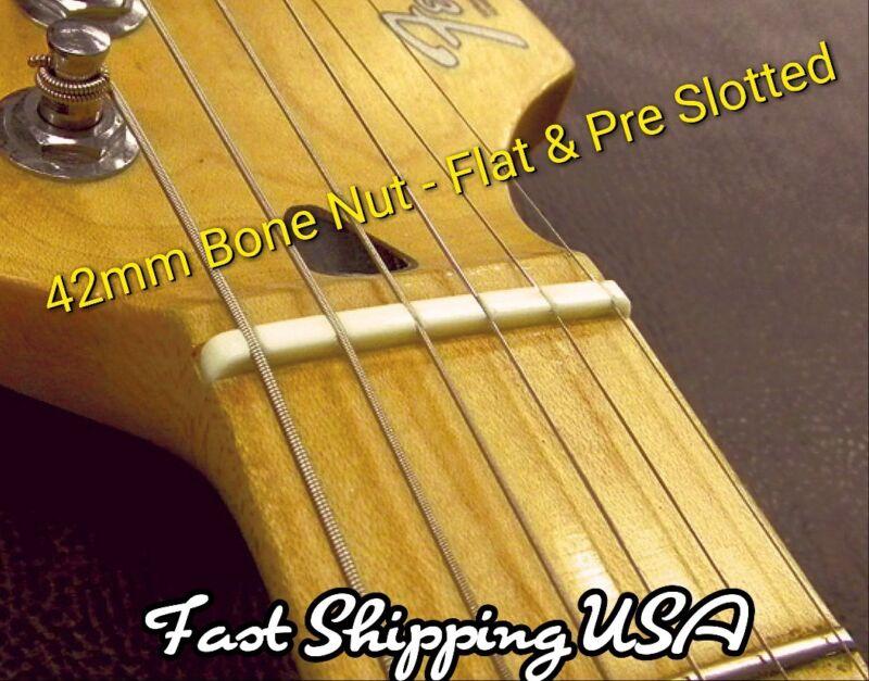 Flat Slotted Bone Guitar Nut. Fits Fender Stratocaster Strat & More. Many Sold!