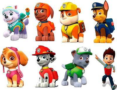 "PAW PATROL 3D WALL STICKER SET decor ART KIDS DECAL Stickers 6"" EACH stickers"