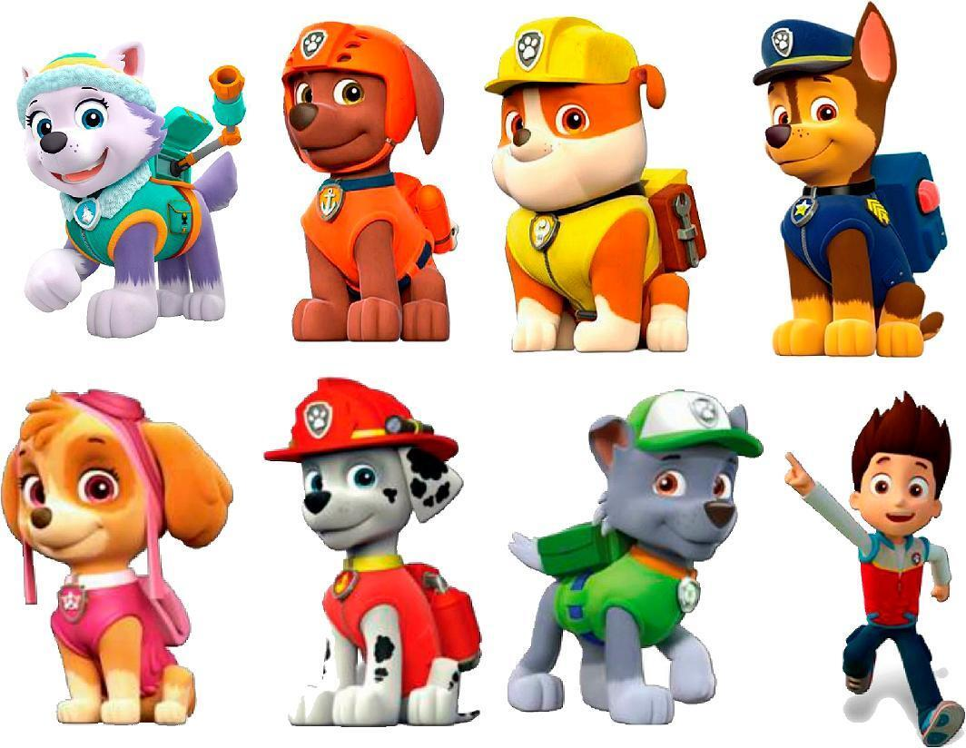 "Home Decoration -  PAW PATROL 3D WALL STICKER SET decor ART KIDS DECAL Stickers 6"" EACH stickers"