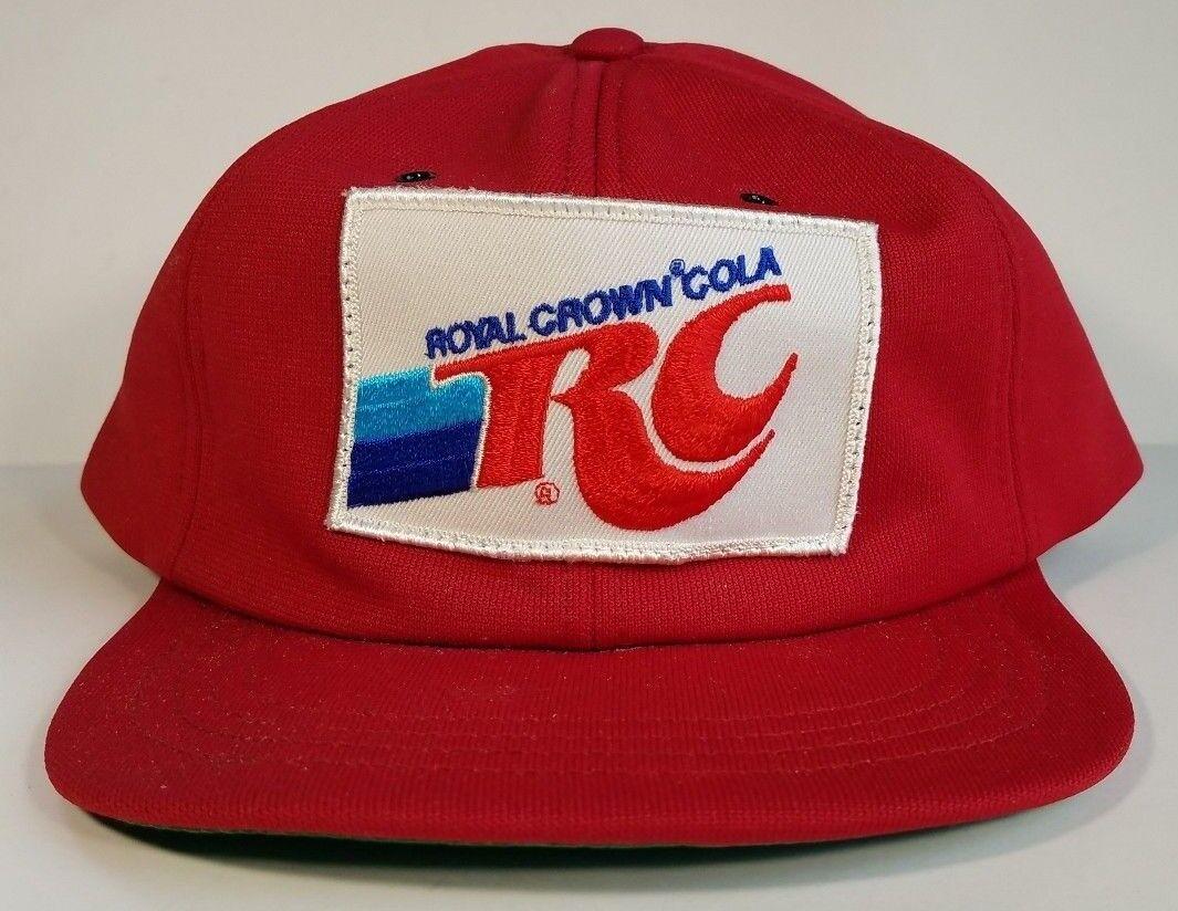 Vintage RC COLA Snapback Hat Patch Polyester 1970s