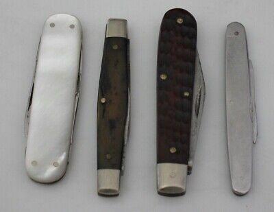 4 Vintage Pocket Knives - Pearl Handle Keen Kutter, Case, Schrade Walden 778
