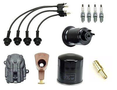 Toyota Van 86-89 2.2 4wd Ignition Tupe Up Kit Filters Cap Rotor Spark Plugs Wire on Sale