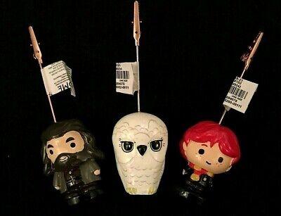 3 Harry Potter Hedwig Hagrid Ron Photo Card Holder Bild Picture Clip Eule Halter (Harry Potter Eule Hedwig)