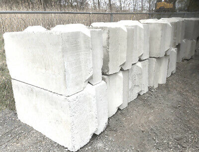 Concrete Blocks 2x2x4 Feet. Fresh Concrete Not From Leftover. 2400 Lbs Each.