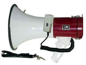 50 Watt Handheld Megaphone Bullhorns Microphone Siren Speaker Pro Cheerleading