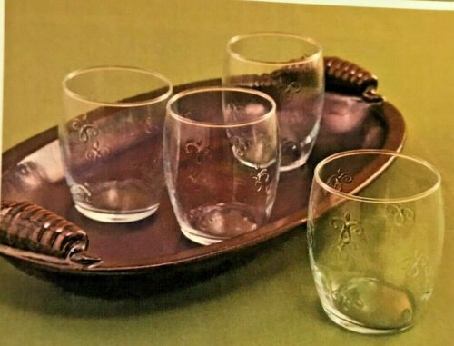 NIB Set of 8 SOUTHERN LIVING Simone Double Old-Fashioned Glasses 41308 glassware