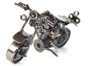 Classic Hand craft HD Motorcycle Metal Art Sculpture Tin Bar Decor Figurine#037