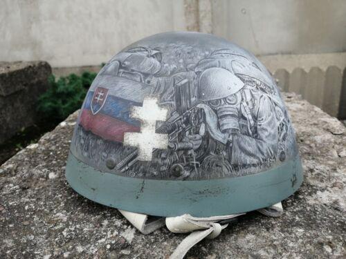 "Slovak helmet VZ-32 with liner, PVC Replica, Varnished, Art theme ""Slovak Army"""