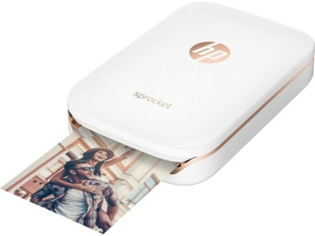 HP Sprocket Portable Photo Printer White Wireless Bluetooth