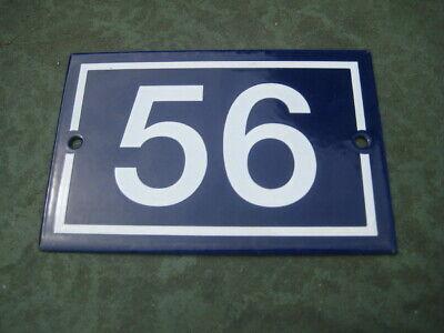 Vintage,Original,French, Blue, Enamel House Number 56