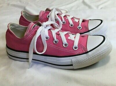 Womens CONVERSE ALL STAR CHUCK TAYLOR OX Pink Sneakers Size 6