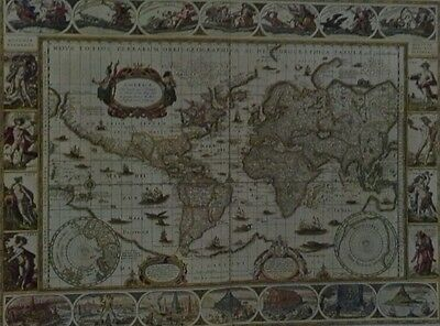 Nova Totius Terrarum(OLd World Map) By Guillermo Blaeum