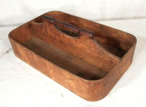 ANTIQUE 19th CENTURY SHAKER BENTWOOD KNIFE CUTLERY TRAY