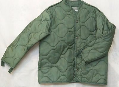 Green Jacket - US Army Military M65 Field Jacket Quilted OD Green Coat Liner M-65 MEDIUM-LARGE