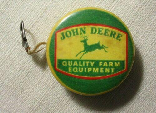 JOHN DEERE CELLULOID TAPE MEASURE ~ STEEL PLOW FARM EQUIPMENT TRACTOR 1930