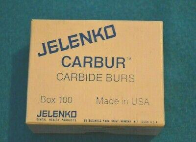 Jelenko Carbide Burs Inverted Cone Hp 34 -pk. Of 100 New Old Stock