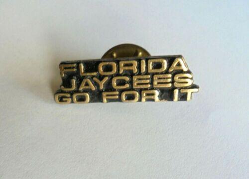 Cool Vintage Florida Jaycees Go For it Slogan Lapel Pin Pinback