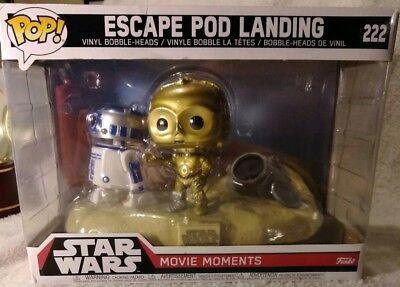 Funko Pop Star Wars Bubble Heads Collectible Movie Moment Escape Pod Landing New
