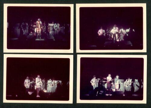 Lot of 4 Vintage Amateur Photographs Rolling Stones Concert c.1972 Unpublished