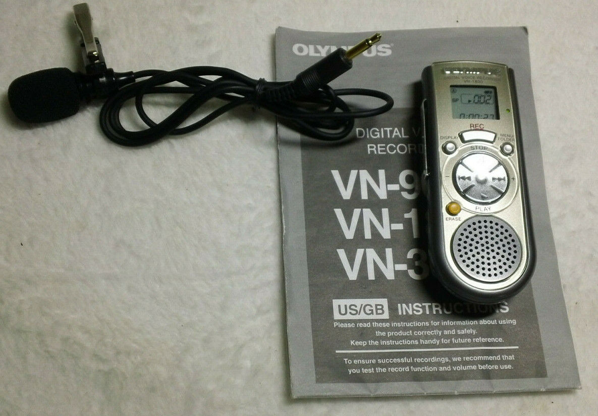 Olympus VN-180 Digital Voice Recorder - Silver- with microphone