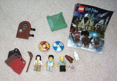 Lego Harry Potter Lot 3 Minifigs Owls, Door, Roof, Broom, Capes, Tablet +