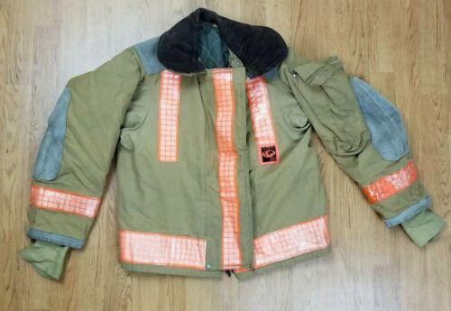 Vintage Globe Firefighter Bunker Turnout Jacket 36 Chest x 26 Length 1988