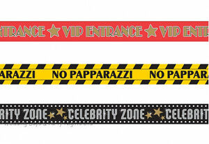 3 x 30ft Caution Tape Room Decorations Hollywood Prom Birthday Party Banner