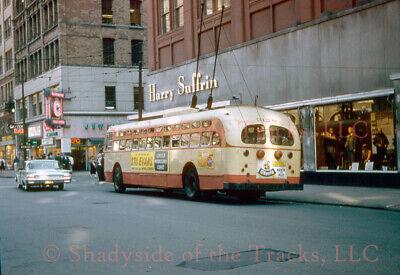 Detroit Street Railways DDSRys Electric Trolley Coach #9128 Original Slide