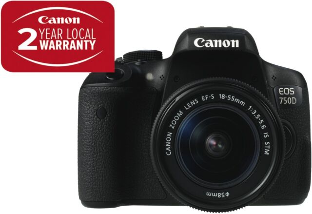 NEW Canon 750DKIS EOS 750D Single STM Kit with EF-S 18-55mm f/3.5-5.6 IS STM ...