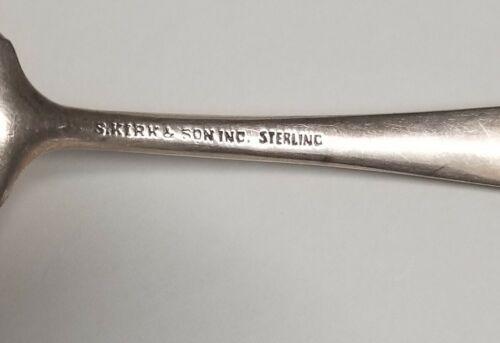 S Kirk Son Repousse Sterling Silver Berry Bon Bon Spoon 5 1/8 25.96Gr  - $39.99
