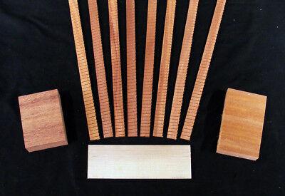 Acoustic Guitar Builders Pack - Kerfing, Neck / Tail Block & Bridge Plate, Khaya