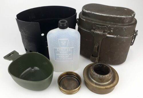 Polish military aluminium cantee M 23/31 - mess kit with Swedish heater and cup