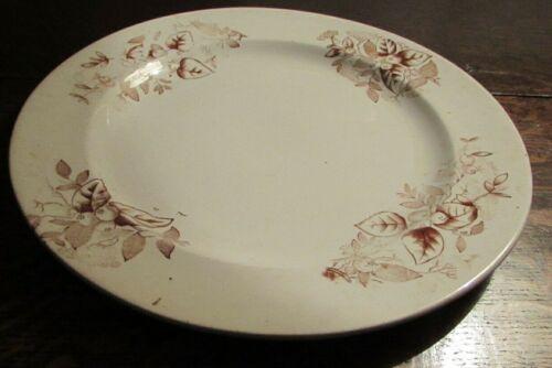 Antique Irish Belleek Pottery earthenware large Plate 2nd Black mark 1891-1926