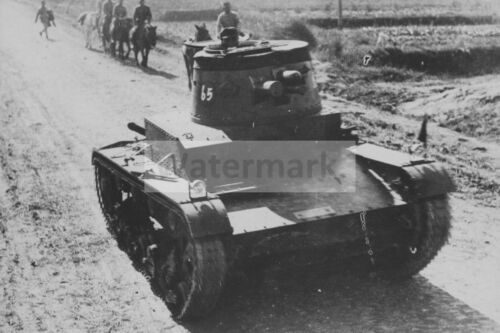 WW2 photo Kuomintang Chinese Vickers Mk.E tank on the road #451