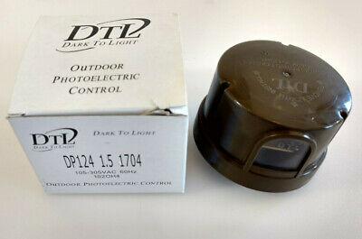Outdoor Photoelectric Control Dtl Dp124 1.5 1704 105-305vac 60hz. 102oh4 Brown